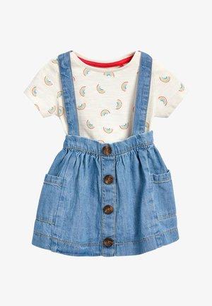 THREE PIECE SET - Denim skirt - blue