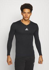 adidas Performance - TEAM BASE TEE - T-shirt à manches longues - black - 0