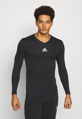 TEAM BASE TEE - Langærmede T-shirts - black
