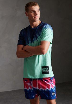 Print T-shirt - pool blue