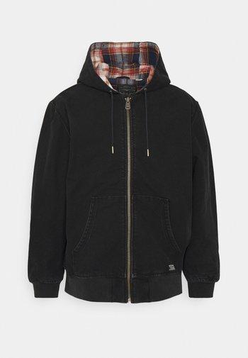 GROVE HOODED WORKER - Summer jacket - jet black