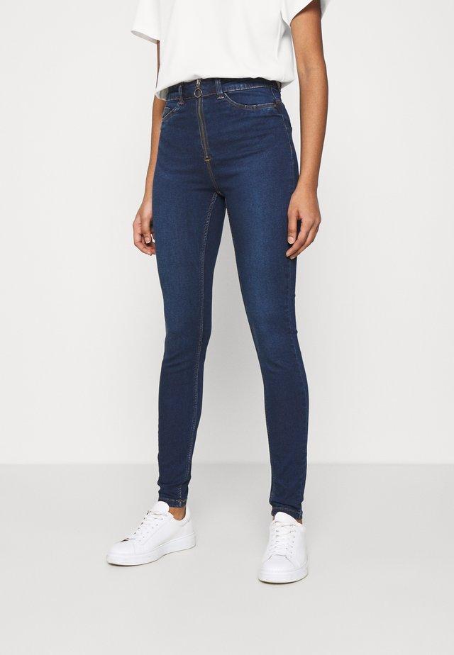 NMCALLIE ZIP  - Jeans Skinny Fit - dark blue denim