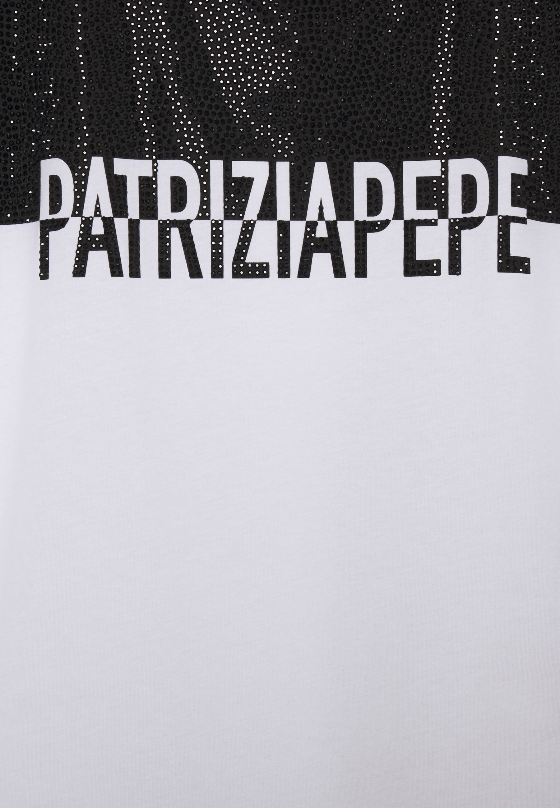 Patrizia Pepe STUD TEE - Printtipaita - bianco ottico KM7v8