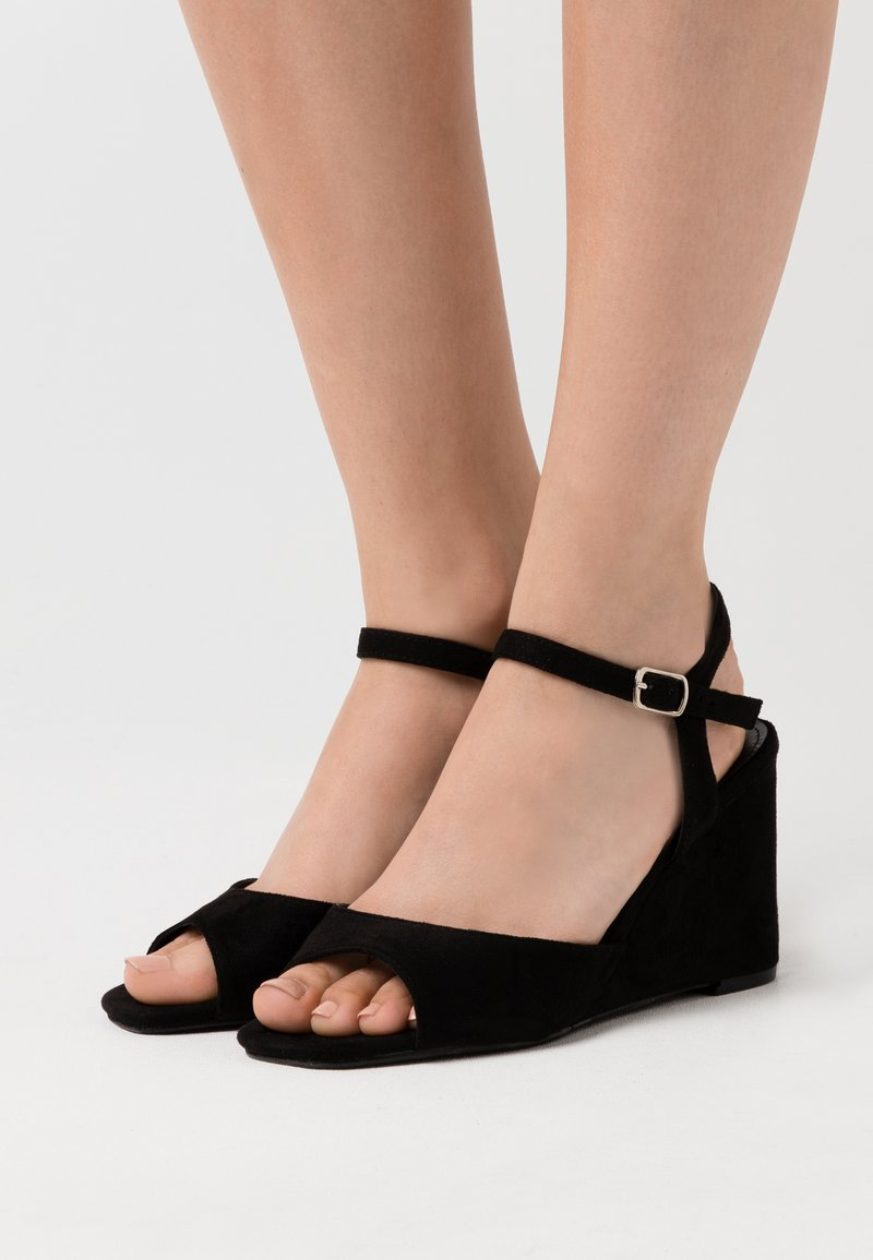 Simply Be - PEACH WIDE - High heeled sandals - black