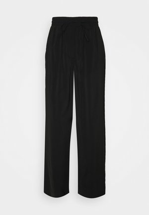 PCCINDRA WIDE PANTS TALL - Broek - black