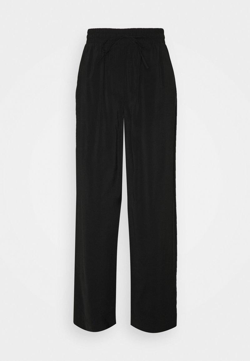 PIECES Tall - PCCINDRA WIDE PANTS TALL - Kangashousut - black
