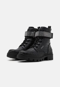 LIU JO - DEBBIE - Šněrovací kotníkové boty - black - 1