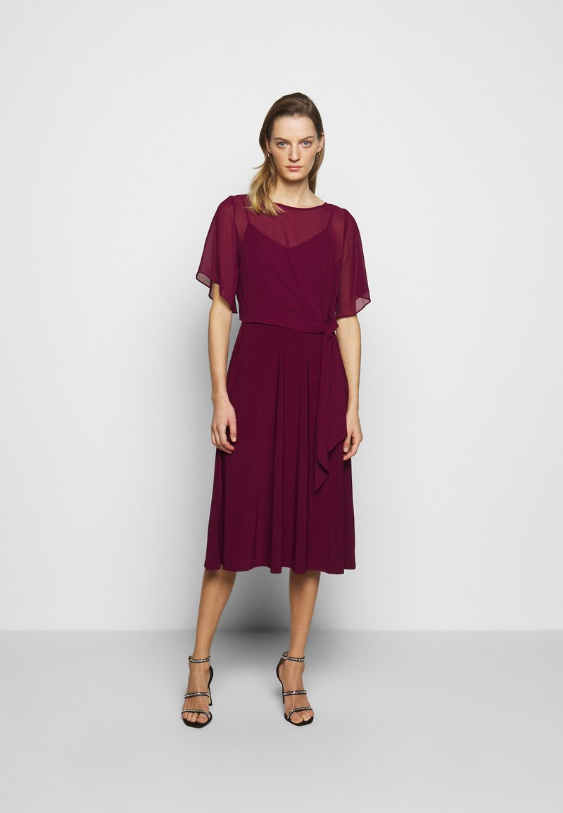 Lauren Ralph Lauren - MID WEIGHT DRESS COMBO - Cocktail dress / Party dress - exotic ruby