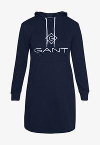 GANT - LOCK UP HOODIE DRESS - Robe d'été - evening blue - 4