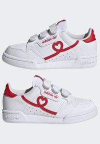 adidas Originals - CONTINENTAL 80 SHOES - Baskets basses - footwear white/vivid red - 7