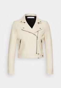 KOLMAR - Leather jacket - ivory