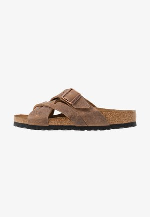 LUGANO NARROW FIT - Slippers - camberra old tabacco