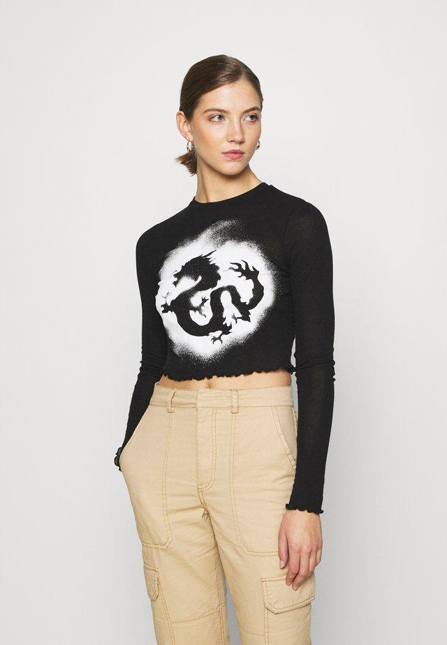 SENA LONG SLEEVE - Maglietta a manica lunga - black