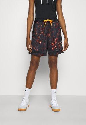 FLY SEASONAL CROSSOVER - Sports shorts - black/total orange/pale ivory
