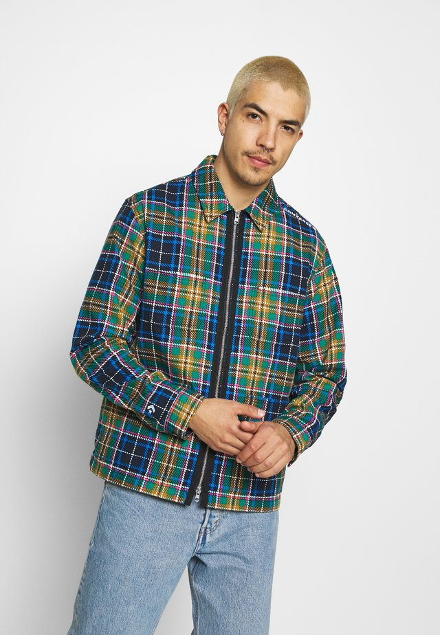 ALL OVER UTILITY ZIP FRONT SHIRT UNISEX - Summer jacket - tartan