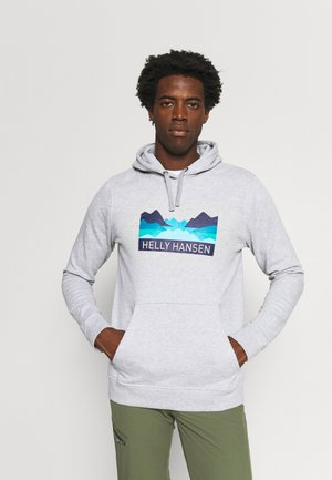 NORD GRAPHIC HOODIE - Sweatshirt - grey melange
