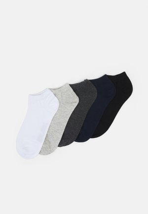 JACMIX SHORT SOCK 5 PACK - Ponožky - black/light grey melange/white