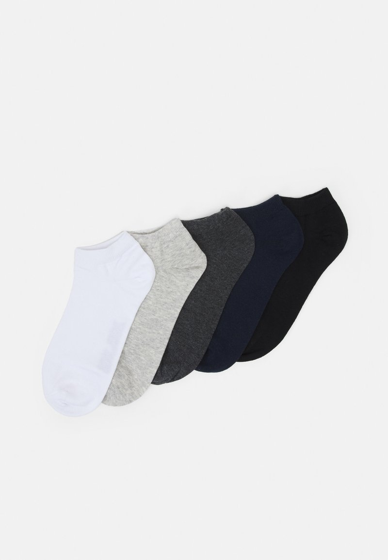 Jack & Jones - JACMIX SHORT SOCK 5 PACK - Socks - black/light grey melange/white