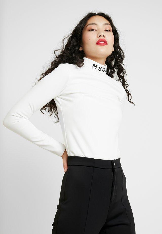 SKIWEAR BODY SUIT - Bluzka z długim rękawem - white