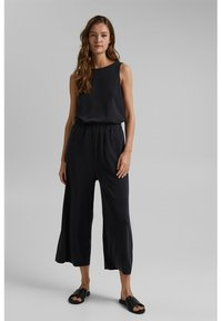 Esprit - CULOTTE - Trousers - black - 1