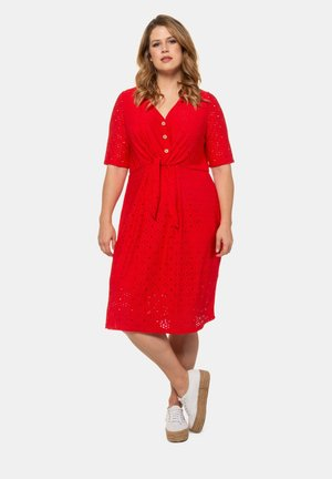 Day dress - hochrot
