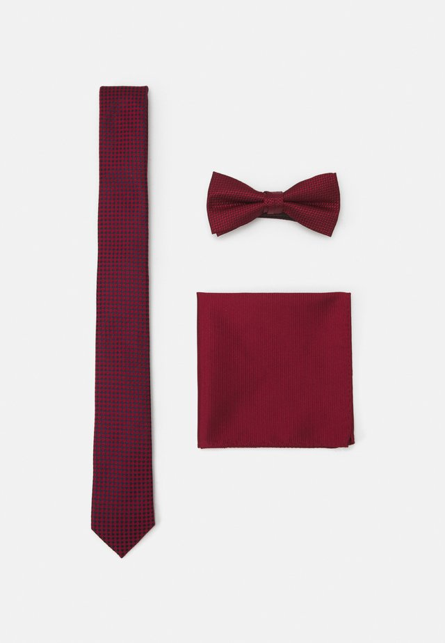 JACNECKTIE GIFT BOX SET - Mouchoir de poche - bordeaux