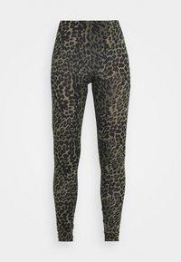ONLBELLA LIVE LOVE - Leggings - Trousers - kalamata/green leo