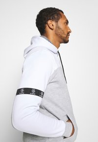 Brave Soul - FULHAM - Sweat à capuche - optic white /grey marl / jet black - 3