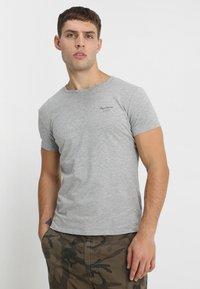 Pepe Jeans - ORIGINAL BASIC - Camiseta básica - gris marl - 0