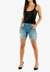 PLEASE - Denim shorts - bleu - 1