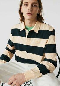 Lacoste - Polo shirt - beige / vert fonce / beige - 3