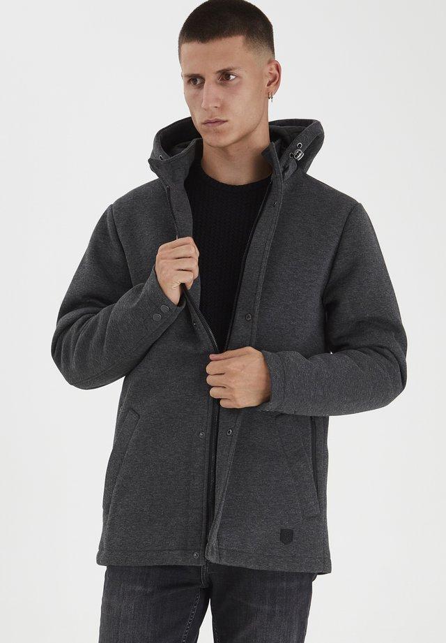 Krótki płaszcz - dark grey melange