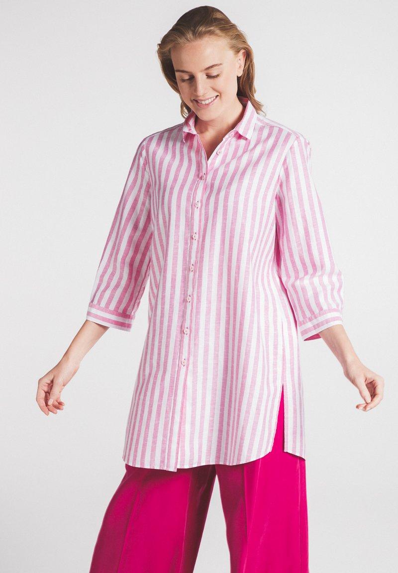 Eterna - MODERN CLASSIC - Button-down blouse - pink/weiss