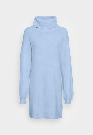 TURTLENECK JUMPER-DRESS  - Gebreide jurk - mottled light blue