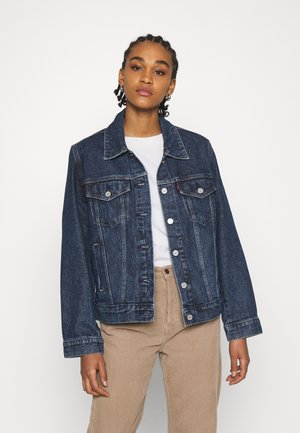 ADJUST - Veste en jean - twilight poppy