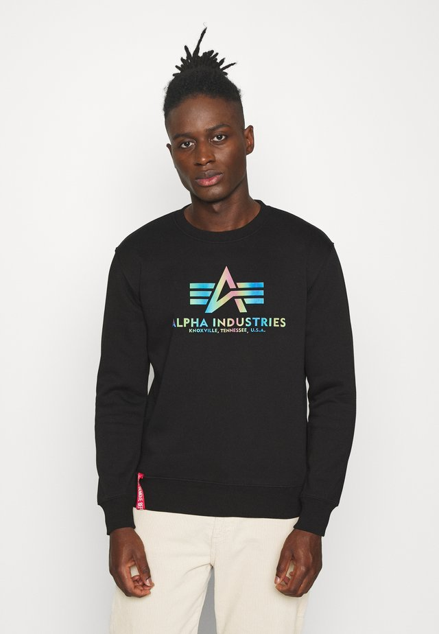 BASIC RAINBOW PRINT - Sweatshirt - black