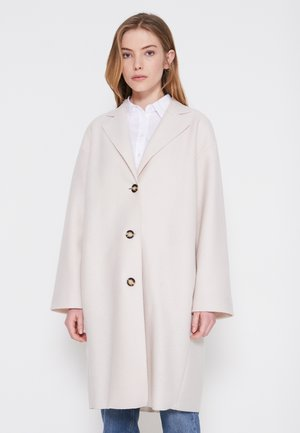 SINGLE BREASTED - Classic coat - natural white