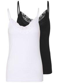 VMINGE SINGLET 2 PACK  - Top - black/bright white