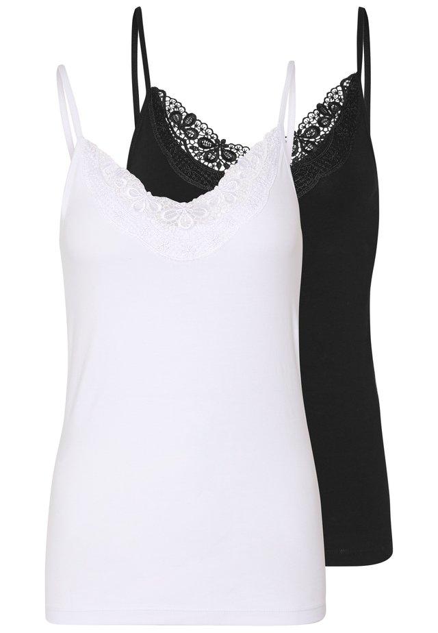 VMINGE SINGLET 2 PACK  - Toppe - black/bright white