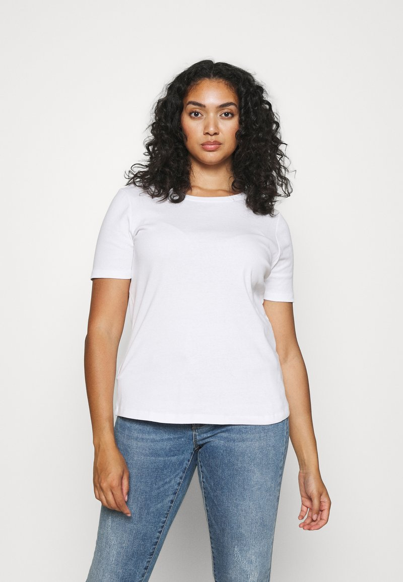 CAPSULE by Simply Be - 3 PACK - T-shirts - black/white/grey