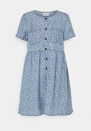 VIFLIKKA DRESS - Day dress - medium blue denim