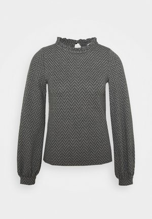 ONLGRACE - Long sleeved top - dark grey melange/black