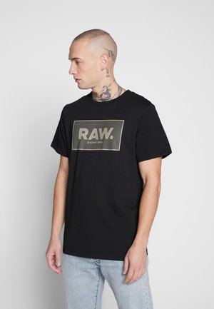 BOXED GR - Print T-shirt - black