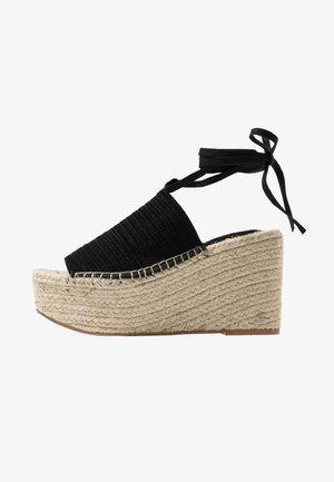 WEEKEND WEDGE - Sandály na vysokém podpatku - black