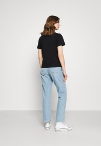 Tommy Jeans - SLIM FLORAL TEE - T-shirt con stampa - black - 2