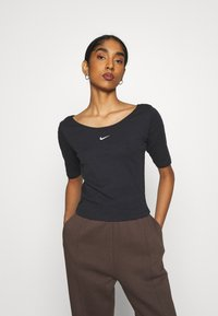 Nike Sportswear - SCOOP - T-Shirt basic - black/white - 0