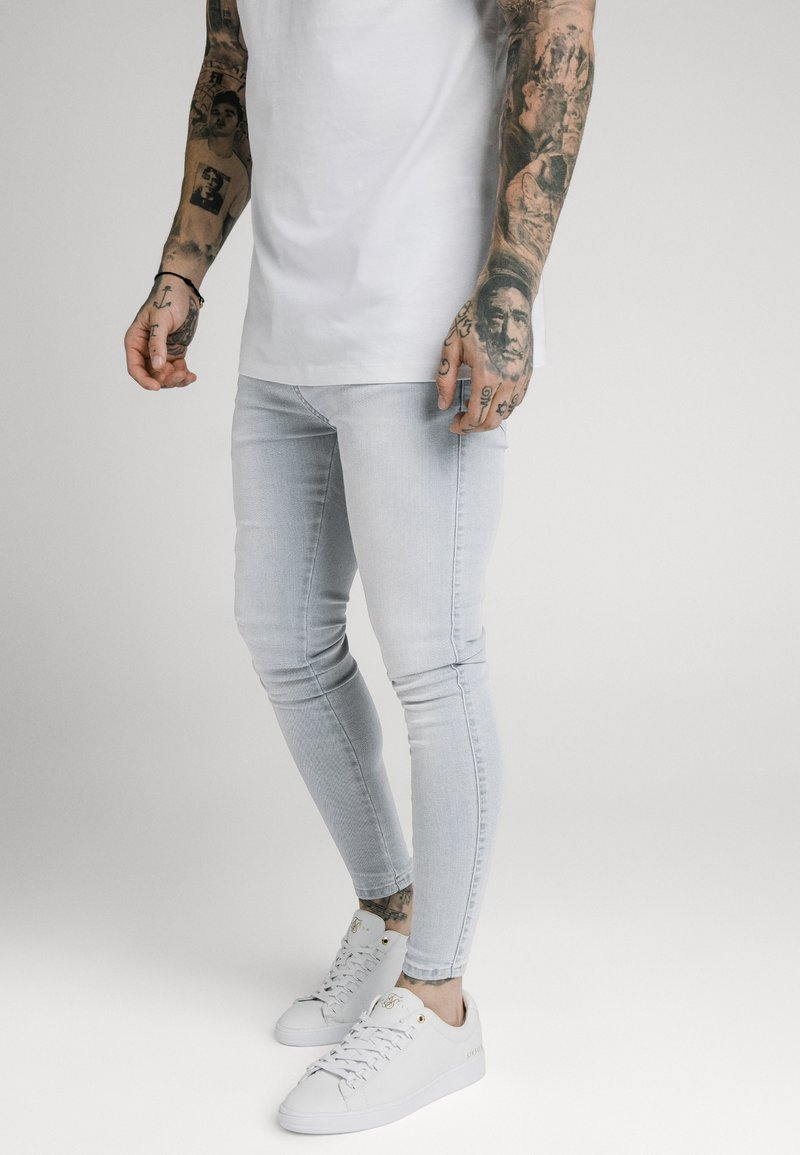 SIKSILK - SKINNY  - Jeans Skinny Fit - light blue
