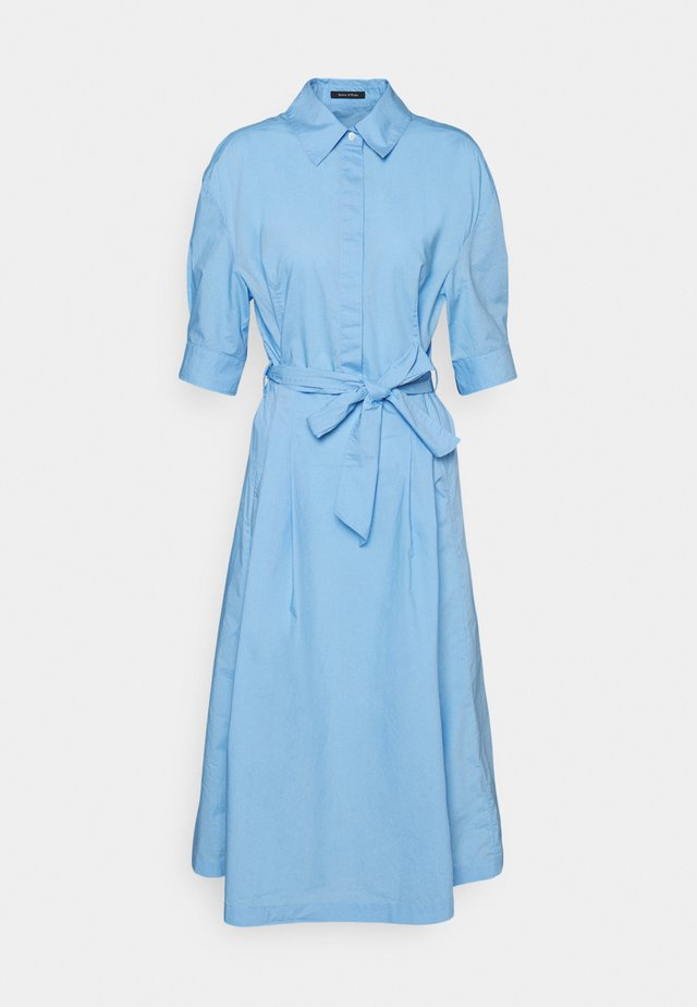 DRESS STYLE BELTED WAIST - Shirt dress - blue