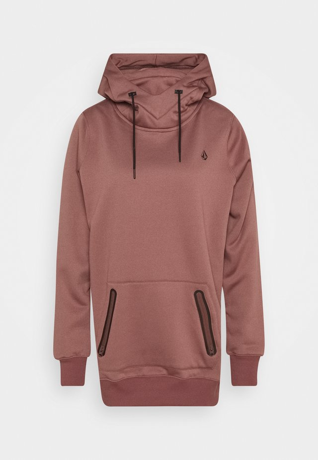SPRING SHRED HOODY - Mikina s kapucí - rose wood