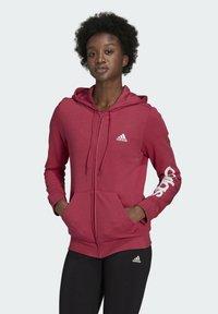 adidas Performance - W LIN FT FZ HD - Felpa aperta - pink - 0